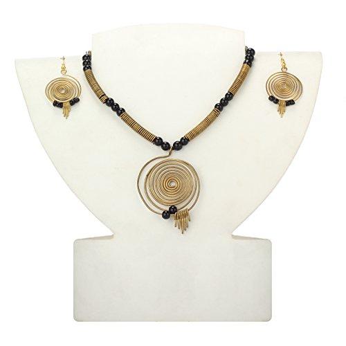 Maaati Fashion Dokra Handcrafted Round Spiral Necklace