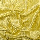 Pannesamt Deluxe Stoff Meterware - 150cm breit - Gelb