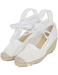 Boca superficial solo zapatos _ Hill, con paja blanca hembra zapatos pescador áspero a seguir a la luz de las pletinas y versátil, blanco 39