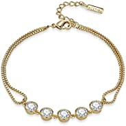 Mestige MSBR3277 Gold Plated Payton Charm Bracelet for Women