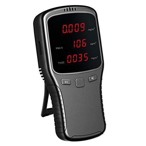 Air Quality Monitor Luftqualitätsmonitor Formaldehyd Detektor (HCHO), Tragbare Pm2.5 / PM10 / PM1 / TVOC Tester Detector Multi-genaue Tests Luftqualitätsmonitor für Auto Nach Hause Luftqualität