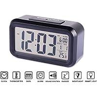 Wecker, Speedv LED Cube Digital Wecker Lauter Wake Up Alarm Wiederholen Snooze Funktion & Temperatur Display Weiß für erwachsene Kinder