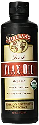 Barlean's - Fresh Flax Oil 100% Organic Pure & Unfiltered Cold Pressed from Barlean's