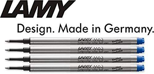 LAMY M 63 Tintenroller-Mine, Strichstärke M (4er Pack, blau)