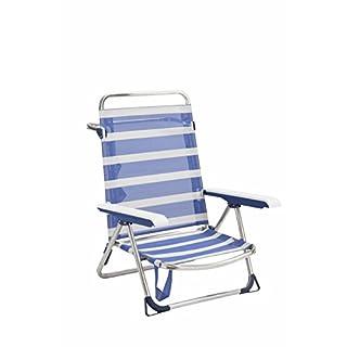 Alco 6075alf-1556Manufakturen–Stuhl/Bett-Strand, 69x 63x 14.5cm, blau und weiß