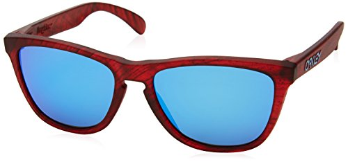 Oakley Herren 0OO9013 Sonnenbrille, Mehrfarbig (Matte Red Woodgrain), 54