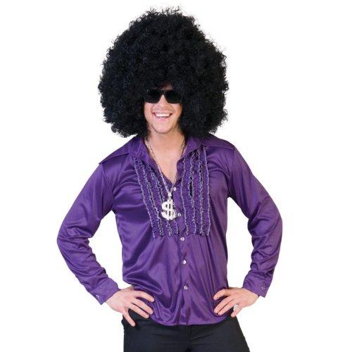 Funny Kostüm Tanz - Buntes Rüschenhemd für Herren lila 48/50