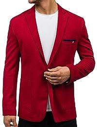 BOLF Herren Sakko Sweatjacke Slim Fit Blazer Anzug Casual Jacke Modisch Freizeit Outwear Mix