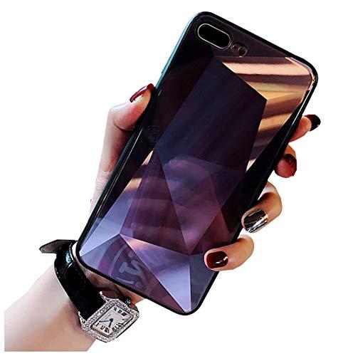 LBX iPhone Glas Diamant Gesicht Laser Telefon Fall TPU Und Gehärtetes Glas Lila Anti-Drop- Und Erdbebenresistenz Verschiedene Geeignete Modelle