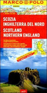 Scozia, Inghilterra del Nord 1:300.000. Ediz. multilingue (Carte stradali Marco Polo)