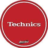 Technics DMC Speedmats - Tappetino per giradischi, 1 paio, colore: rosso/bianco