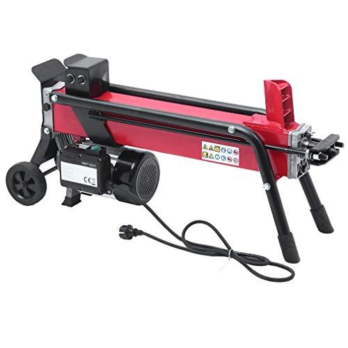 Kitechildhrrd Holzspalter 7T 520mm Hydraulik Brennholzspalter liegend 2200W Hydraulikspalter Rot