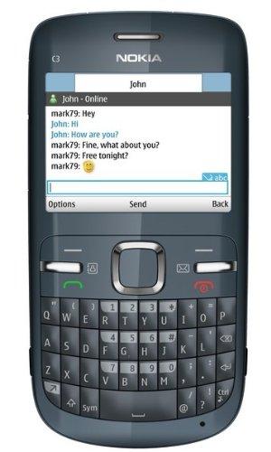 Nokia Nokia C3 Smartphone (6.1 cm (2.4 Zoll) Display, Bluetooth, 2 Megapixel Kamera, QWERTZ-Tastatur) grau