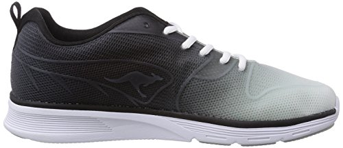 KangaROOS K- Light 8003, Unisex-Erwachsene Sneakers Schwarz (black/white 500)