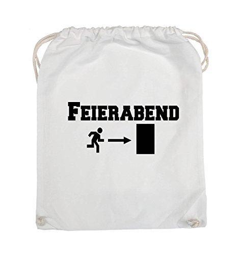 Comedy Bags - FEIERABEND - EXIT - Turnbeutel - 37x46cm - Farbe: Schwarz / Pink Weiss / Schwarz