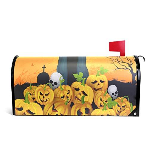 Alaza(mailbox cover) WOOR Skelton mit Kürbis Halloween, magnetisch, Standardgröße, 45,7 x 52,1 cm 25.5x20.8 inch Oversized ()