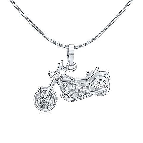 Silberanhänger Motorrad 925 Sterling Silber rhodiniert