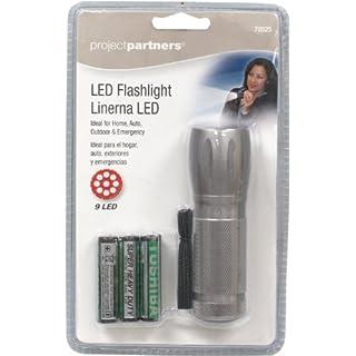 Project Partner 70525 9 Led Flashlight