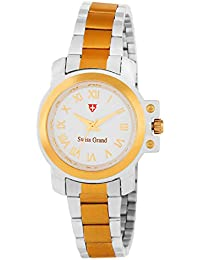 Swiss Grand SG_1226 Silver Gold Coloured With Silver Gold Stainless Steel Strap Quartz Watch For Women