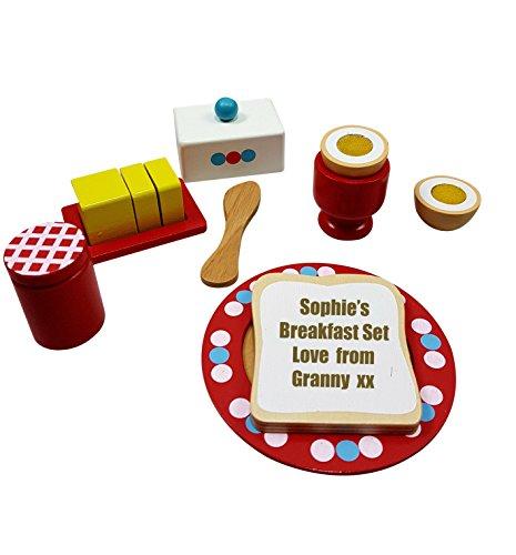 personalisierbar Spielzeug Holz Breakfast Spielzeug Lebensmittel Set Baby Kleinkind Geschenk Geburtstag