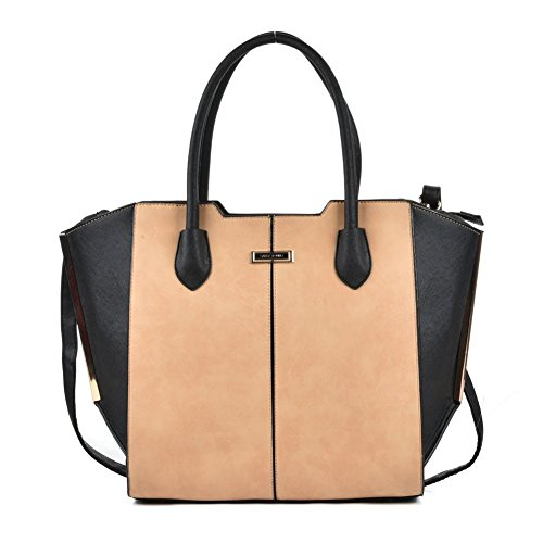 Sally-Young-Apricot-and-Black-Tote-Bag