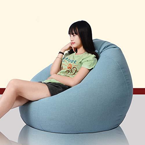 Individuelle Möbel Sofa (DZXYQ Tragbar Faul Sofa Bohnensack Tatami Wohnzimmer Single Bohnensack Hotel Möbel Tuch Sofa,004,90 * 110CM)