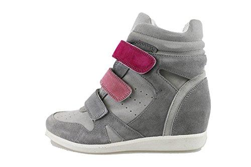 CULT sneakers zeppe donna grigio ghiaccio camoscio AH863 (39 EU)
