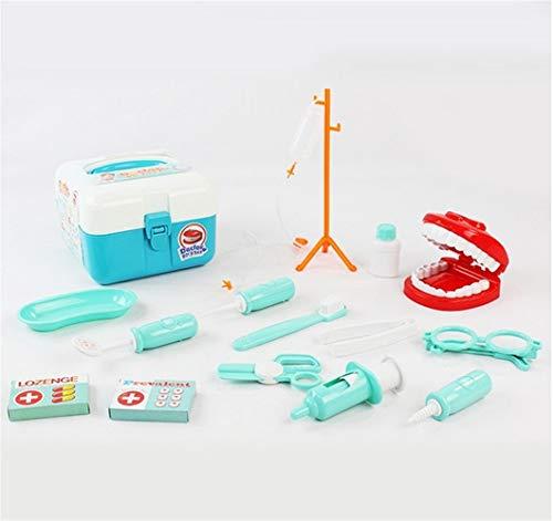 YuanCheng Spielset für Arzt, Krankenschwester, Medizinische Rucksack-Set, Tragetasche für Rollenspiele, Kunststoff, Zahnarzt-Kit, Medizinisches Rollenspiel-Kostüm, Spielzeug für Kinder und Kinder