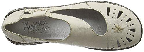 Rieker - 46315-60, Scarpe col tacco con cinturino a T Donna Beige (Beige (Beige))