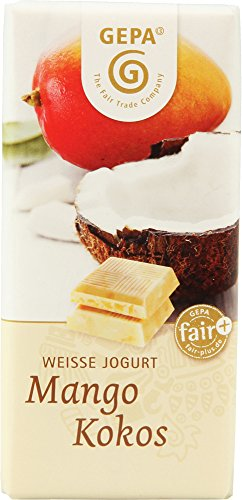 GEPA - The Fair Trade Company - Weiße Jogurt Schokolade Mango Kokos - 40g, bio