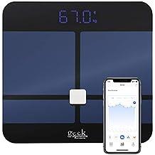 Báscula Inteligente Digital Bluetooth De Alta Calidad Mide Grasa Corporal y Visceral, Hidratación, Masa