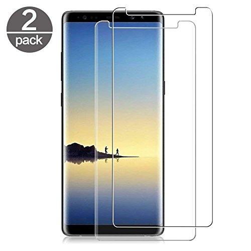 XTCASE Verre Trempé Samsung Galaxy Note 8 [Lot de 2], Film Protection Ecran Vitre pour Samsung Galaxy Note 8 [Dureté 9H] [Haut Définition Entièrement Transparent] Anti Rayure sans Bulles d'air