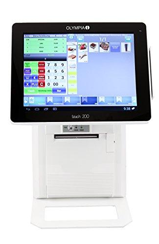 Olympia Touch 200 ✓ All-in-ONE Kassensystem für Gastronomie und Handel ✓ Registrierkasse ✓ Kasse ✓ Betriebssystem Android ✓ bis zu 384 Tische ✓ weiß ✓ GOBD Zertifizierung