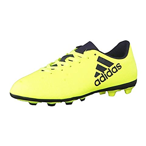 adidas X 17.4 Fxg J, chaussures de football mixte enfant - jaune - Jaune (Amasol/Tinley/Tinley), 30 EU