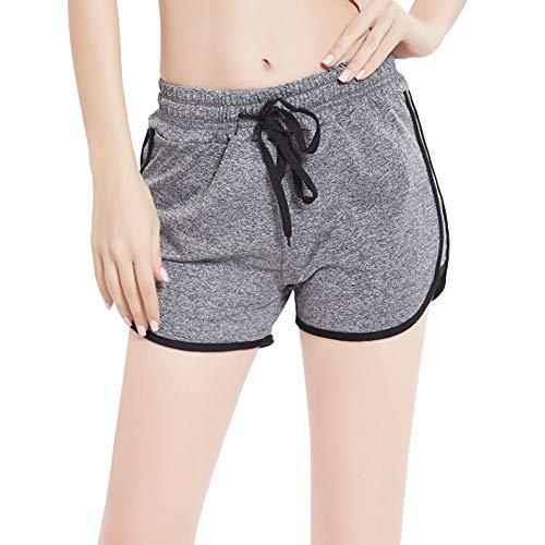 Marico Nahum Damen Sport Yoga Hosen, Damen Jugendlich Mädchen Sommer Normallack Strandsport Laufende Turnhallen Kurzschluss-Hosen