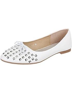 Kinder Schuhe, Z-617, BALLERINAS HALBSCHUHE MIT NIETEN