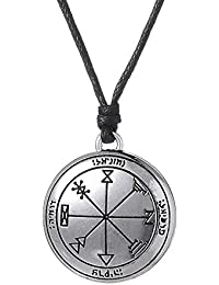 fishhook Key of Solomon The First Pentacle of Jupiter Talisman Pendant Necklace