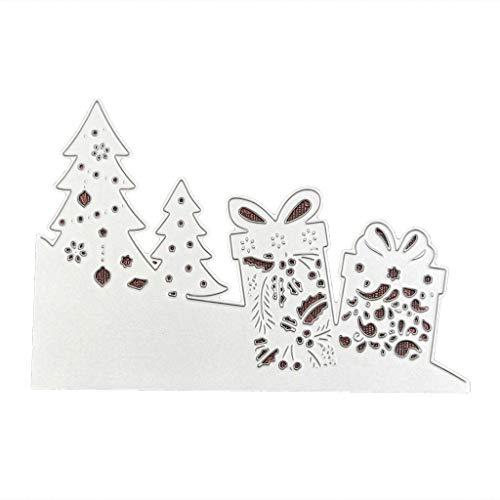Liancany Kohlenstoffstahl Baum Geschenk Muster Stanzen Prägeschablone Form Für DIY Weihnachten Kunsthandwerk Karte Decor