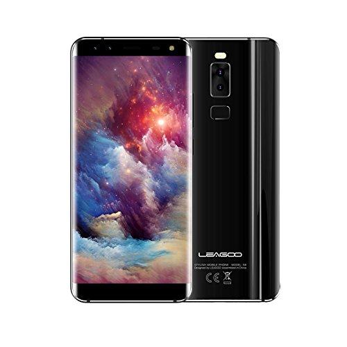 "Leagoo S8 moviles Libres - Smartphone Pantalla Infinita de 5.72"" (Procesador Octa Core 1.5GHz, 13MP+8MP+2MP+2MP, ROM 32GB RAM 3GB, Android 7.0, Red de 4g, Dual SIM, WiFi GPS Bluetooth OTG), Negro"