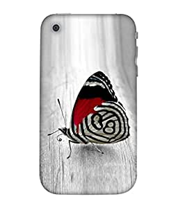 PrintVisa Designer Back Case Cover for Apple iPhone 3GS (Red Black White Bright Spring Colorful Nature Background Colors)