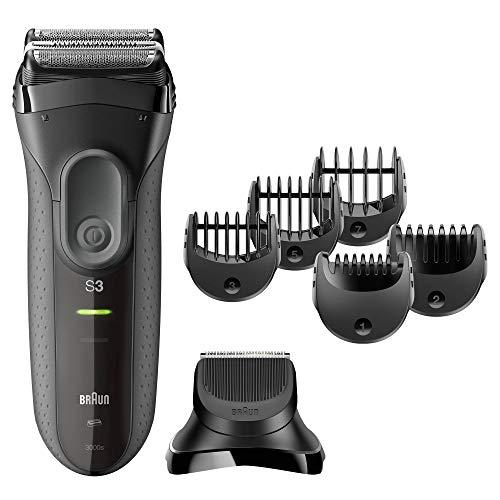 Braun Series 3 3000BT Shave&Style 3-in-1 Elektrorasierer mit Präzisionstrimmer und 5 Kammaufsätzen, Schwarz