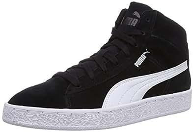 Puma Puma '48 Mid, Baskets mode mixte adulte - Noir (Black-White 04), 37.5 EU