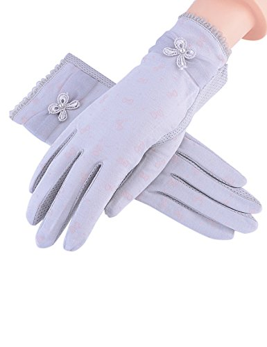 Femelle Été Thin Section des gants en dentelle Gants solaires d'été Gants anti-UV (Six couleurs disponibles) ( Couleur : 2 ) 4