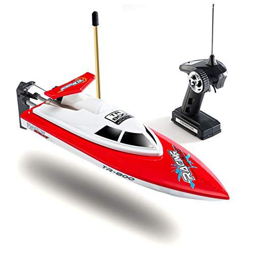 Top Race Fernbedienung Wasser Speedboot, perfektes Spielzeug für Pools und Seen Red 49 MHz. TR-800B