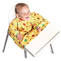 Weaning Bib - BIBaDO - The Award Winning Coverall, Attaches to Your highchair, Ideal for BLW Mess, Long Sleeves, Waterproof & Stain Resistant