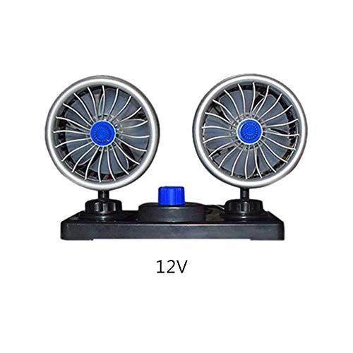 Sunnyushine Ventilador Eléctrico para Coche, Ventilador pequeño 12V 24V, Ventilador eléctrico Giratorio...