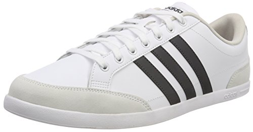 adidas Caflaire, Sneakers Basses Homme, Blanc (Footwear White/Carbon/Chalk Pearl), 45 1/3 EU