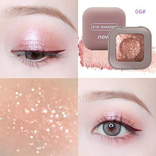 Eyeshadow, ChsheTM Lidschatten Puder Tablett Monochrom Gliter Shinning Lidschattenpuder Make-Up Lidschatten Augen Makeup Monochrom-lcd-display