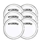 FOGAWA 30 Pcs Buttons Transparente Buttons Selber Machen 60mm DIY Ansteckbuttons mit Sicherheitsnadel für Foto Bild Kleidung