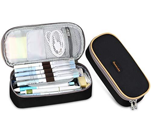 Federmäppchen, Homecube Stiftetasche Federtasche Stiftemappe mit großer Kapazität des praktischen Briefpapiers für Kursteilnehme(Schwarz)